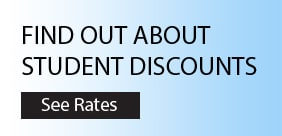 student discounts - see rates